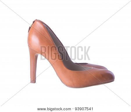 Shoe. Woman Shoe On Background. Woman Shoe On A Background.
