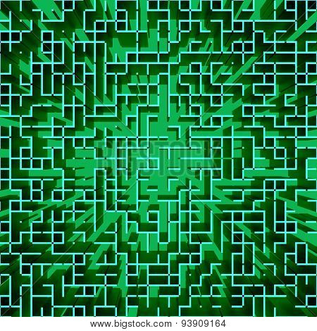 Abstract Hi-tech Matrix-like Geometric Background