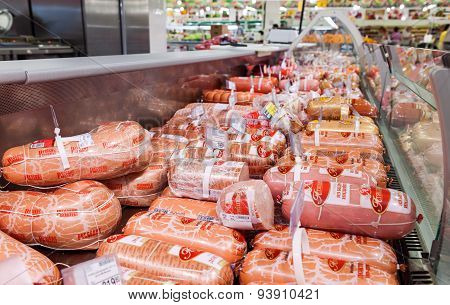 Sale Of Sausage Products In The Hypermarket Network