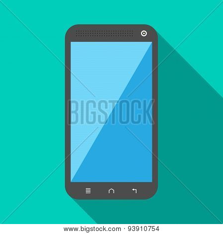 Smartphone With Long Shadow