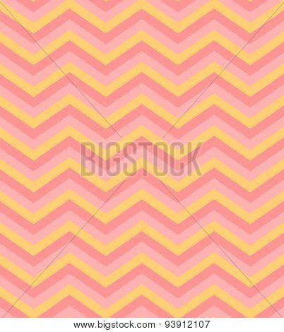 Beige pink chevron seamless pattern background vector
