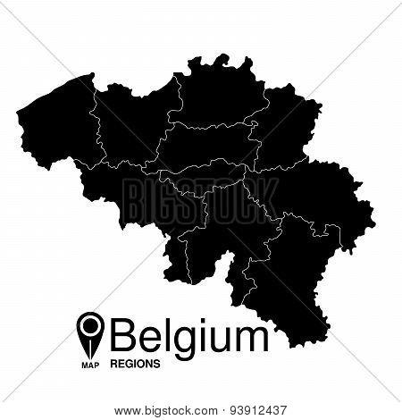 Belgium Map detailed vector