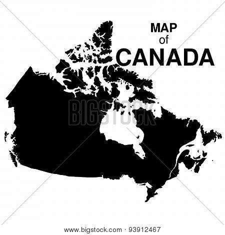 Regions map of Canada