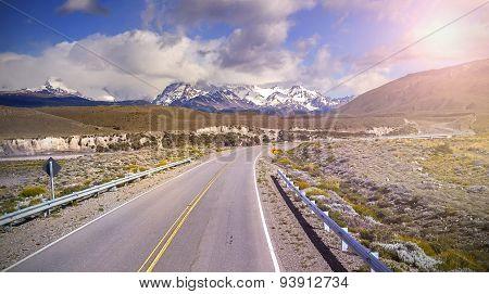 Road To El Chalten Village, Argentina.