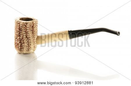 corncob pipe isolated on white