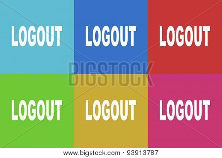 logout flat design modern vector icons set for web and mobile app
