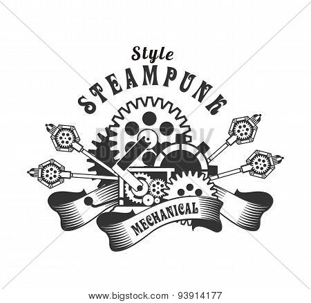 Steampunk Badge