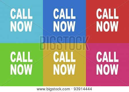 call now flat design modern vector icons set for web and mobile app