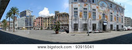 Architecture of Old Port area of Genoa, Italy