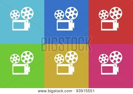 movie flat design modern vector icons set for web and mobile app