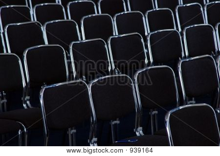 Rows Black Business Chairs
