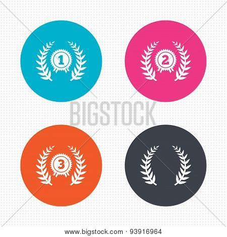 Laurel wreath award icons. Prize for winner.