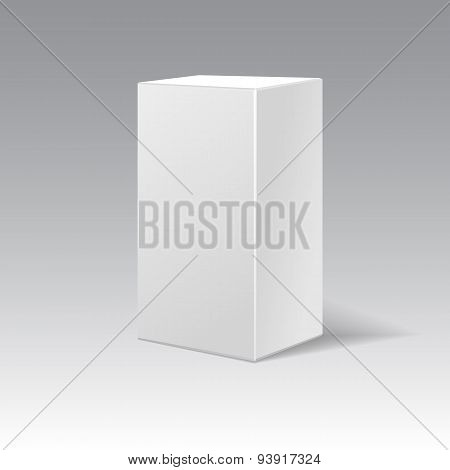 White Cardboard Gift Rectangular Box.