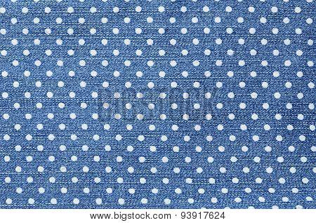 Dark Blue Female Jeans - Fabric Structure