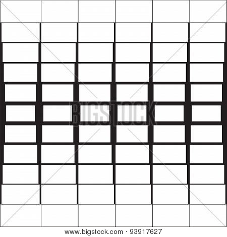 white rectangles with a black outline abstract geometric backgro