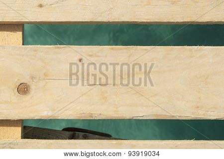 Wooden Boards Above Sea Water