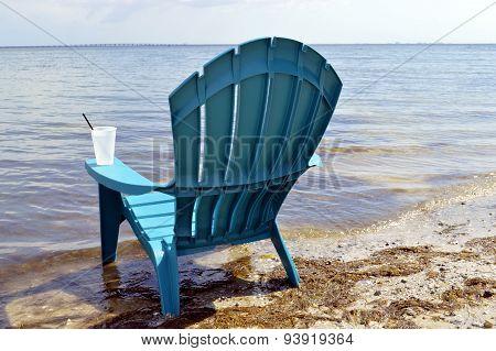Chair on Ben T Davis Beach Florida