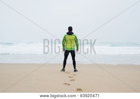 Runner Man On The Beach