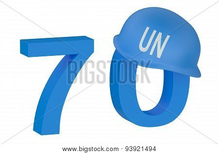 United Nations 70 Years Concept