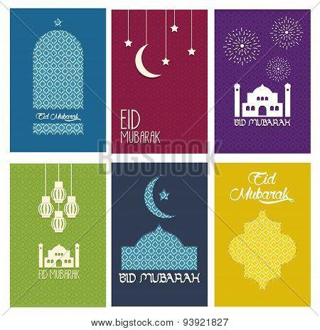 Happy Eid Mubarak card collection