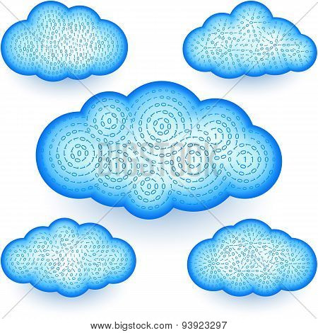 Cloud Storage Virtual Digital Binary Information Swirl Data Set