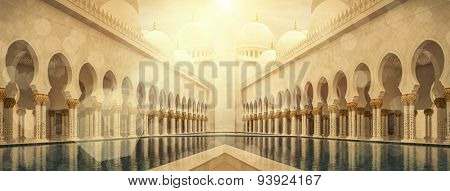 Grand Mosque of Sheikh Zayed in UAE.