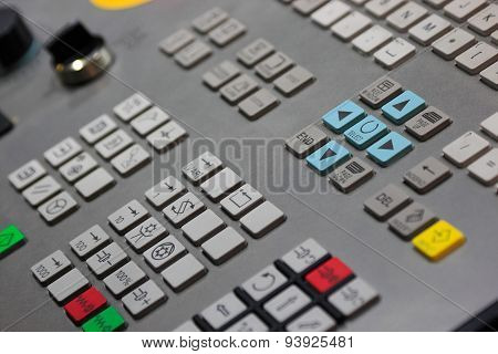 Closeup Of Cnc Control Panel