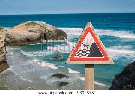 Warning Signal On The Coast