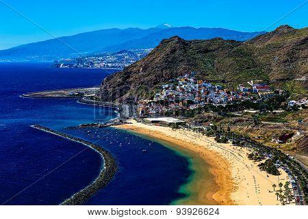 Aerial View To Coast Or Shore Of Atlantic Ocean