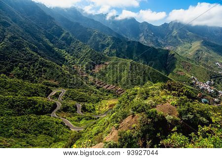 Mountains Valley With Winding Road