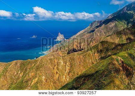 Shore Of Ocean With Rock