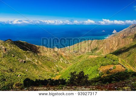Coast Or Shore Of Ocean With Rock