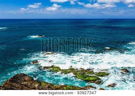 Stone Coast Or Shore Of Atlantic Ocean