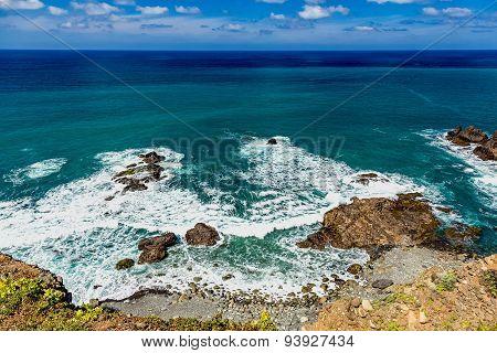 Stone Coast Or Shore Of Ocean