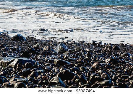 Stones And Water Of Ocean