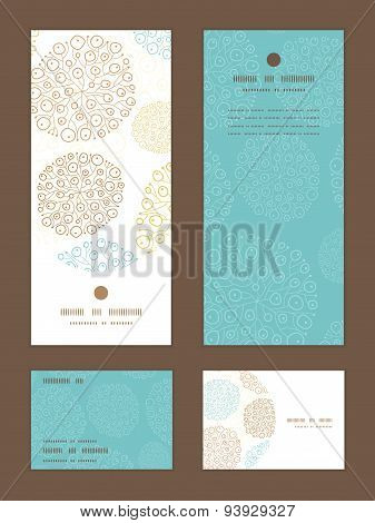 Vector blue brown abstract seaweed texture vertical frame pattern invitation greeting, RSVP and than
