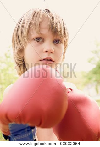 The young boxer