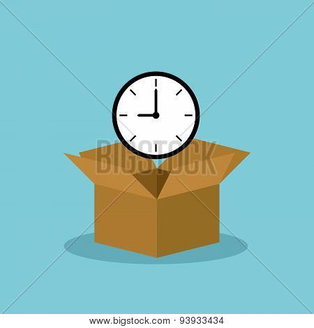 Time Heart Over Opened Box