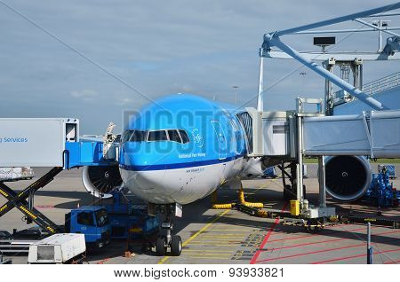 Amsterdam, Netherlands - May 16, 2015: Klm Royal Dutch Airlines Airplanes