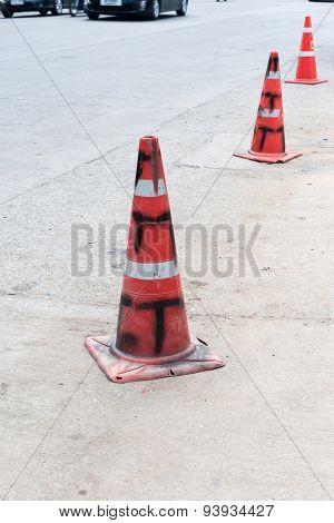 Dirty Traffic Cone