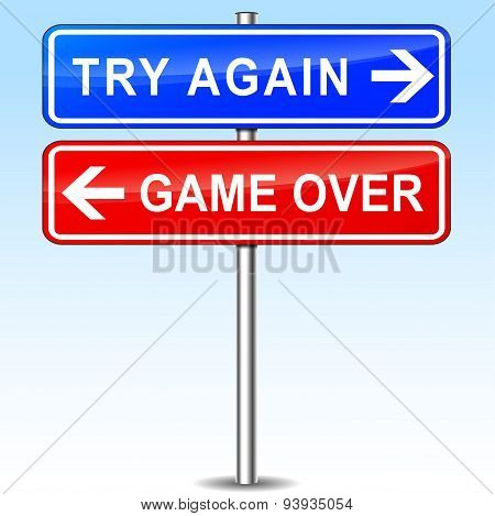 Try Again Or Game Over