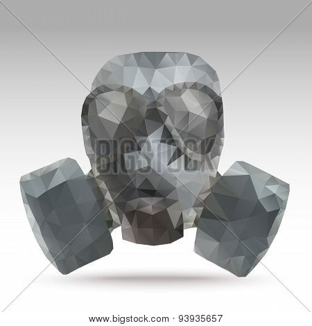 Army Gas Mask Abstract Polygonal