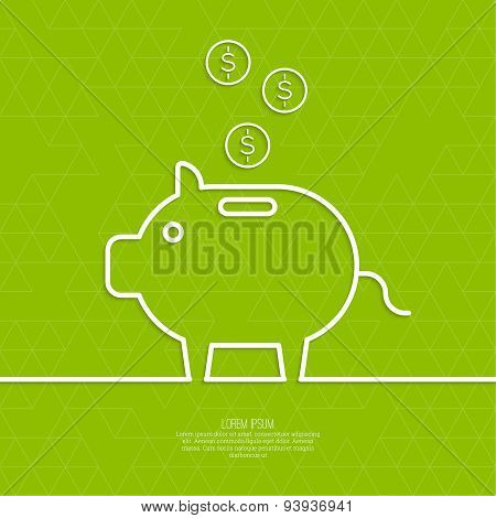Icon Pig piggy bank