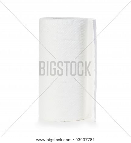 Roll Of Paper Towel, Isolated On White Background