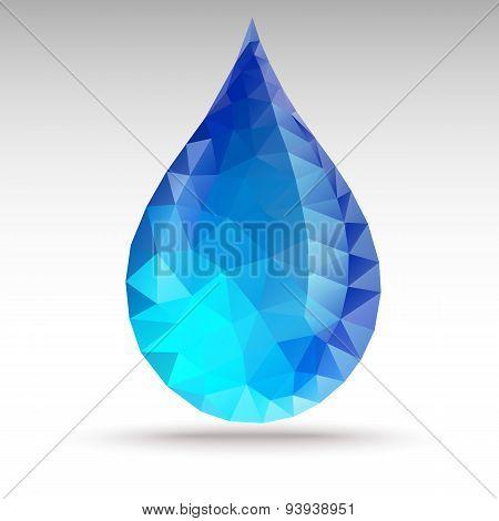 Water Drop Polygon