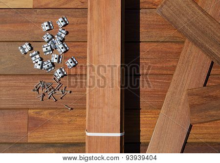 Ipe decking deck wood installation screws clips and fasteners