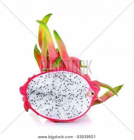 Dragonfruit Isolated On The White Background