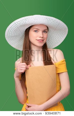 Woman with parcel