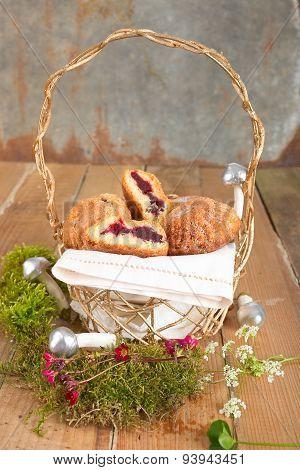 Tarts in a basket