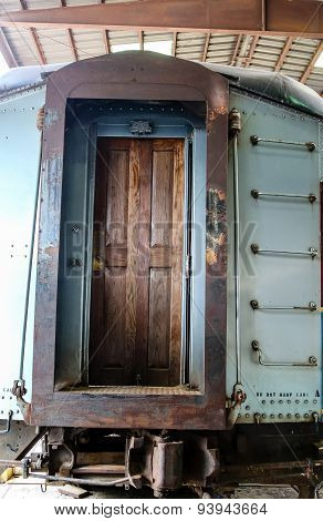 Wood Door To Old Train Car